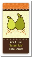 The Perfect Pair - Custom Rectangle Bridal Shower Sticker/Labels