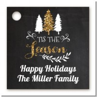 Tis The Season - Personalized Christmas Card Stock Favor Tags