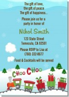 Choo Choo Train Christmas Wonderland - Baby Shower Invitations