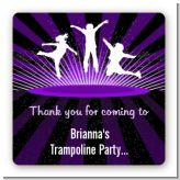 Trampoline - Square Personalized Birthday Party Sticker Labels
