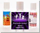 Trampoline - Personalized Birthday Party Hand Sanitizers Favors