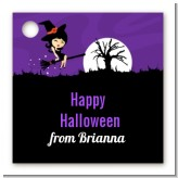 Trendy Witch - Personalized Halloween Card Stock Favor Tags