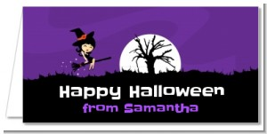 Trendy Witch - Personalized Halloween Place Cards