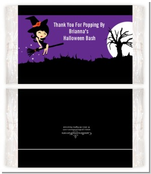 Trendy Witch - Personalized Popcorn Wrapper Halloween Favors
