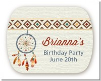 Dream Catcher - Personalized Birthday Party Rounded Corner Stickers