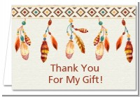 Dream Catcher - Birthday Party Thank You Cards