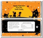 Trick or Treat - Personalized Halloween Candy Bar Wrappers