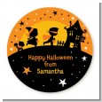 Trick or Treat - Round Personalized Halloween Sticker Labels thumbnail