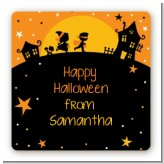 Trick or Treat - Square Personalized Halloween Sticker Labels