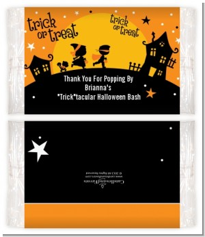 Trick or Treat - Personalized Popcorn Wrapper Halloween Favors