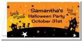 Trick or Treat - Personalized Halloween Place Cards