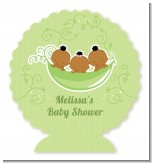 Triplets Three Peas in a Pod African American - Personalized Baby Shower Centerpiece Stand