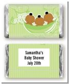 Triplets Three Peas in a Pod African American Three Boys - Personalized Baby Shower Mini Candy Bar Wrappers