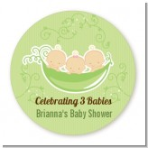 Triplets Three Peas in a Pod Caucasian - Personalized Baby Shower Table Confetti