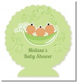 Triplets Three Peas in a Pod Hispanic - Personalized Baby Shower Centerpiece Stand