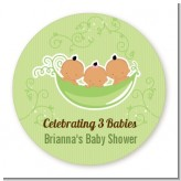 Triplets Three Peas in a Pod Hispanic - Personalized Baby Shower Table Confetti