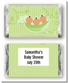 Triplets Three Peas in a Pod Hispanic Three Boys - Personalized Baby Shower Mini Candy Bar Wrappers