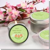 Triplets Three Peas in a Pod Hispanic Three Girls - Baby Shower Candle Favors