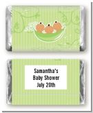 Triplets Three Peas in a Pod Hispanic Two Girls One Boy - Personalized Baby Shower Mini Candy Bar Wrappers