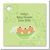 Triplets Three Peas in a Pod Hispanic - Personalized Baby Shower Card Stock Favor Tags