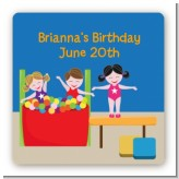 Tumble Gym - Square Personalized Birthday Party Sticker Labels