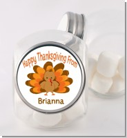 Turkey - Personalized Holiday Party Candy Jar