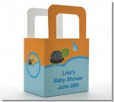 Baby Turtle Blue - Personalized Baby Shower Favor Boxes