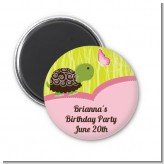 Turtle Girl - Personalized Birthday Party Magnet Favors