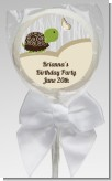 Turtle Neutral - Personalized Birthday Party Lollipop Favors