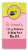 Turtle Girl - Custom Rectangle Birthday Party Sticker/Labels