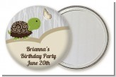Turtle Neutral - Personalized Birthday Party Pocket Mirror Favors