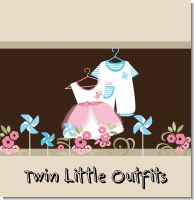 Twin Little Outfits 1 Boy 1 Girl Baby Shower Theme