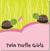 Twin Turtle Girls Baby Shower Theme