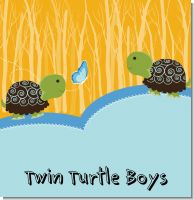 Twin Turtle Boys Baby Shower Theme