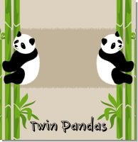 Twin Pandas Baby Shower Theme