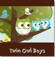 Owl Twin Boys Baby Shower Theme