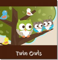 Owl Twins Baby Shower Theme