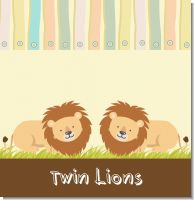 Twin Lions Baby Shower Theme