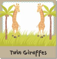 Twin Giraffes Baby Shower Themes