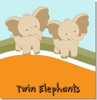 Twin Elephants Baby Shower Theme
