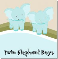 Twin Elephant Boys Baby Shower Theme