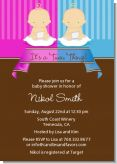 Twin Babies 1 Boy and 1 Girl Caucasian - Baby Shower Invitations