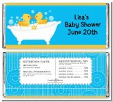 Twin Duck - Personalized Baby Shower Candy Bar Wrappers