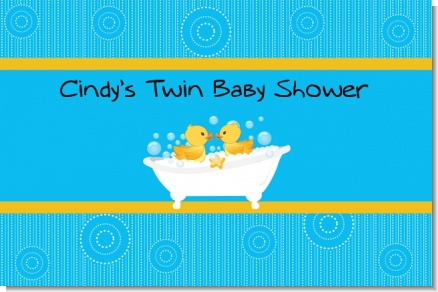 Twin Duck - Personalized Baby Shower Placemats