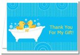 Twin Duck - Baby Shower Thank You Cards