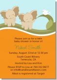 Twin Elephants - Baby Shower Invitations