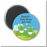 Twin Frogs - Personalized Baby Shower Magnet Favors
