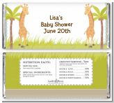 Twin Giraffes - Personalized Baby Shower Candy Bar Wrappers