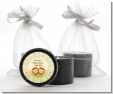 Twin Lions - Baby Shower Black Candle Tin Favors