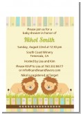 Twin Lions - Baby Shower Petite Invitations